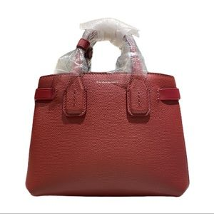 Burberry Baby Banner Derby Leather Satchel Handbag